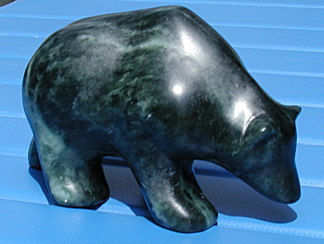 Stone carving bear by steve capps